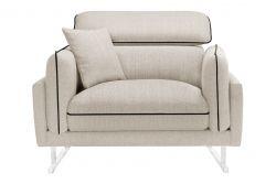 1-Seater Sofa Gigi | Cream / Black