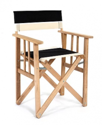 Director Chair Striped | Black / Natural Bold