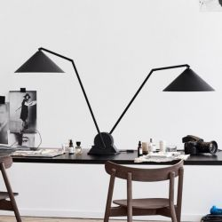 Lampe de Table Gear Double | Noir