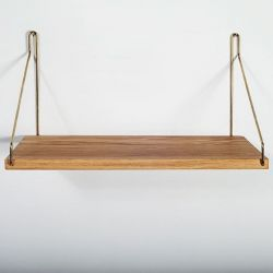 Shelf | Brass Brackets