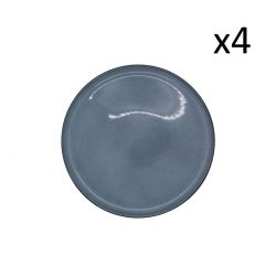 Plate Magar Ø 27.5 cm Set of 4 | Blue Grey