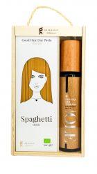 Coffret Cadeau Spaghetti & Huile d'Olive Design Bois
