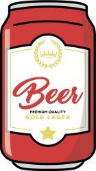 Serviette de Plage | Canette de Bière