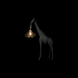 Lamp Giraffe in Love XS | Zwart
