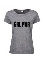T-shirt Girl Power | Grijs