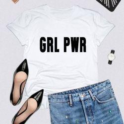 T-shirt GRL PWR | White