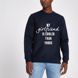 ♂ Sweater My Girlfriend | Blau