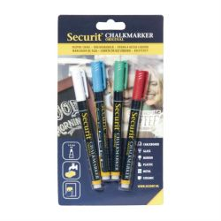 Chalk Markers 1-2 mm / Set of 4 | White, Blue, Red, Green