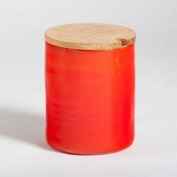 Round Jam Jar Red