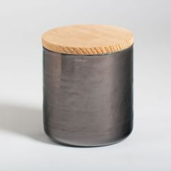 Round Jar Aubergine
