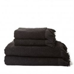 Set de 4 Serviettes | Noir