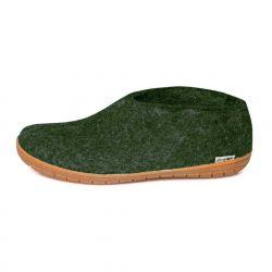 Felt Slipper Rubber Sole | Forest Green