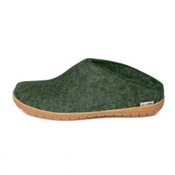 Felt Slip-on Rubber Sole | Forest Green