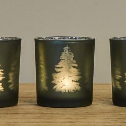 Teelichthalter-Baum | Grün