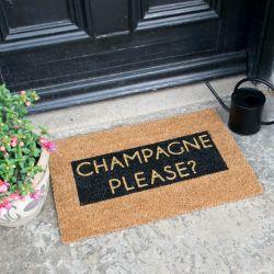 Glitzer Fußmatte | Champagner