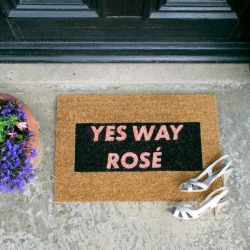 Discontinued Glitter Doormat | Yes Way Rosé