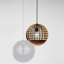 The Globe Lamp with Copper Spinning