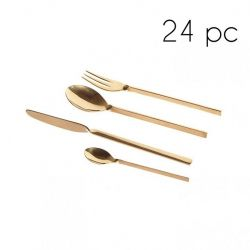 Cutlery 24 Pcs | Gold Shiny