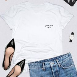 T-shirt Good Girl Club | White