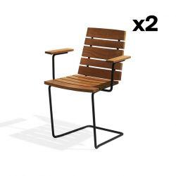 Set of 2 Armchairs Grinda | Teak