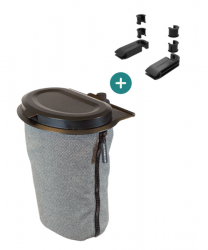 Flextrash Bin 3 L + 2 Seat Clips | Grey