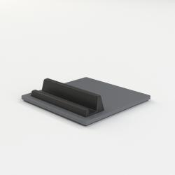 Telefon- und Tablettenhalter-Fliese | Dunkelgrau