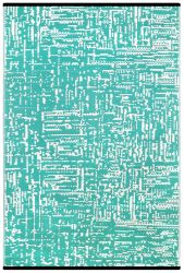 Indoor/Outdoor Plastic Rug Cosmopolitan | Turquoise/White