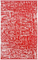 Indoor/Outdoor Plastic Rug Cosmopolitan | Red/White