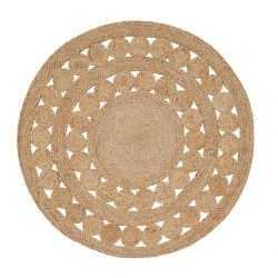 Round Jute Rug Excel | Brown