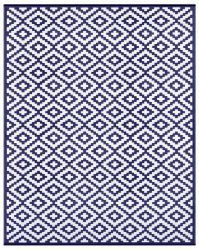 Indoor/Outdoor Plastic Rug Nirvana | Navy Blue/White