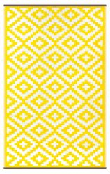 Indoor/Outdoor Plastic Rug Nirvana | Yellow