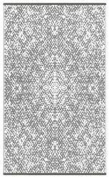 Indoor/Outdoor Plastic Rug Rio | Grey/White