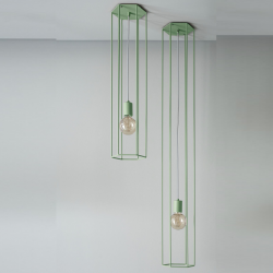 Ceiling Lamp Lines | Hex | Moss Green