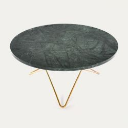 O Table | Green Marble/Brass