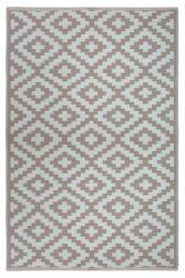 Indoor/Outdoor Plastic Rug Nirvana | Taupe/White