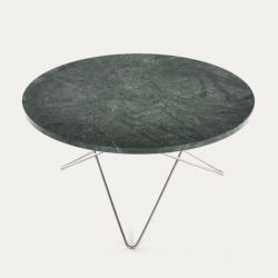O Table | Green Marble/Stainless Steel
