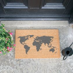 Grey Doormat | World Map