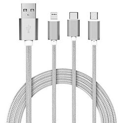 3-in-1 Charging Cable | White