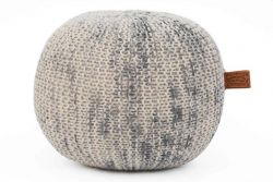 Herman Marled Pouf | Grey