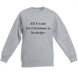 Sweater Unisexe Kroketjes | Gris