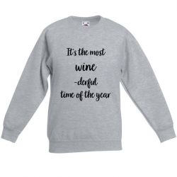 Unisex Sweater Winederful | Grey
