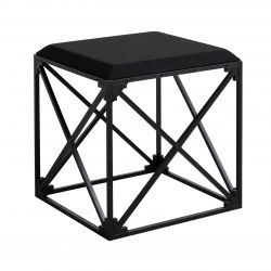 GRID Upholstered Stool | Black