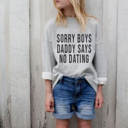 Sweater Enfants No Dating | Gris
