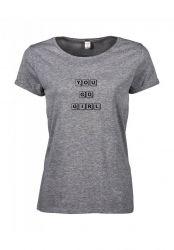 T-shirt You Go Girl | Grey