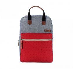 Benedicte | Grey & Red