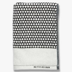Towel Grid | Black/Off White