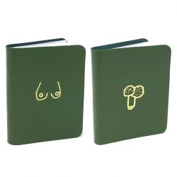 Notebook Willy & Boob Set of 2 | Green