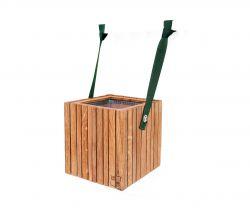 Self-watering Plant Pot GrowOn | Dark Oak & Green Straps
