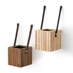 Lot de 2 Pots pour Plantes Auto-arrosants GrowOn | Nylon Vert
