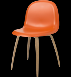 Gubi 5 Chair Orange/Oak